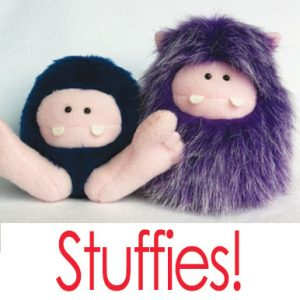 STUFFIES! (Image of two stuffies)